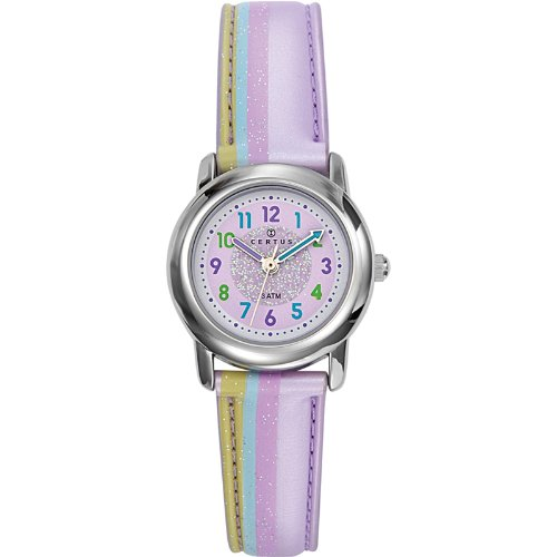 Certus Paris Kids' 647382 Round Purple Dial Plastic Bracelet Watch