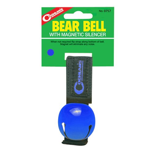 Coghlan's Bear Bell with Magnetic Silencer, Blue