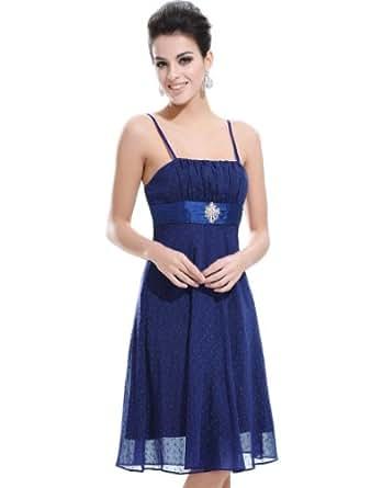 Ever Pretty Empire Waist Spaghetti Straps Jacquard Dot Party Dress 02037, HE02037BL18, 16US