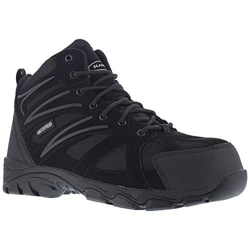 Knapp Men's Ground Patrol Waterproof Work Boot Composite Toe Black 12 D