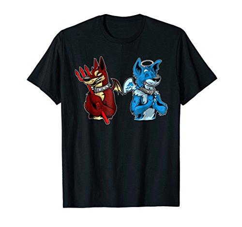 Good vs evil shirt - Doberman Pinscher