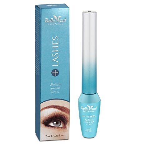Belle Azul +Lashes Growth Serum – Longer, Thicker, Fuller Lashes & Enhanced Brows with Castor Oil – Conditioning Hair Growth Treatment 7 ml./ 0.24 fl.oz.
