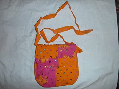 Back From Bali Little Girls Purse Cotton Colorful Glitter Sequins Adjustable