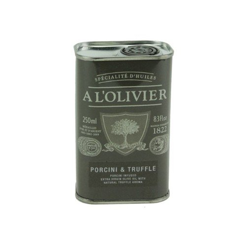 A L'Olivier Porcini Truffle Infused Extra Virgin Olive Oil Tin, 8.3 oz (Pack of 6)