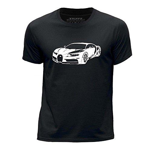 Stuff4 Boy's Age 12-14 (152-164cm) Black Round Neck T-Shirt/Stencil Car Art/Chiron