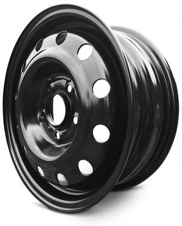 New Nissan NV200 Cargo Van (13-17) 15 Inch 5 Lug OEM Replica Replacement Full-Size Black Steel Wheel Rim 15x5.5 5x114.3