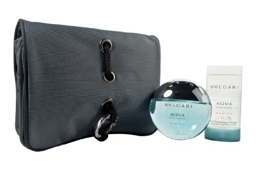 Bvlgari Aqva Pour Homme Marine Coffret: EDT Spray 50ml/1.7oz + Shower Gel 75ml/2.5oz + Bag 2pcs+1bag