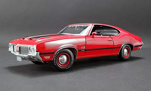 New DIECAST Toys CAR Acme 1:18 1970 Oldsmobile 442 W-30 (Matador RED with Black Stripes) A1805608