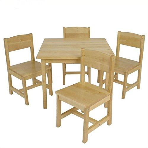KidKraft 21421 Farmhouse Table & 4 Chair Set, Natural, 23.6