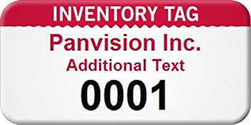 Custom Inventory Asset Tag With Gloss AlumiGuard Metal 100 Tags Pack