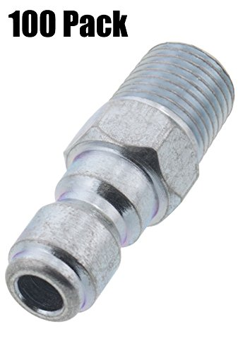 Erie Tools 100 Pressure Washer 1/4 Male NPT to Quick Connect Plug Zinc Plated Coupler, High Temp, 4000 PSI, 10.5 GPM by Erie Tools