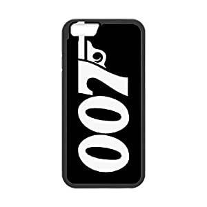 007 James Bond 024 Funda iPhone 6S 4.7 pulgadas del teléfono celular Negro Volver plástico del teléfono celular Caso J1K3VM