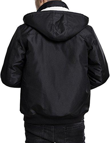 Jacket 7 Urban Classics Nero Uomo Hooded Giacca Heavy black qptUnp8Bw