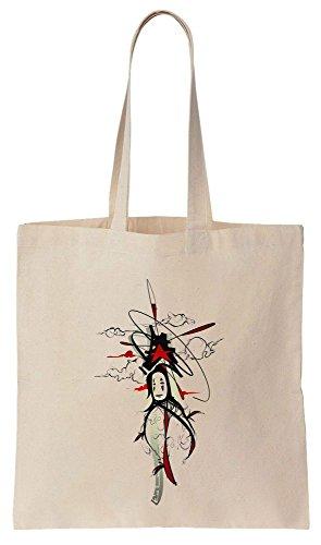 Non-Face Red And Black Design Sacchetto di cotone tela di canapa