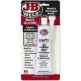 J-B Weld 31312 All-Purpose RTV Silicone Sealant and Adhesive - White - 3 oz.