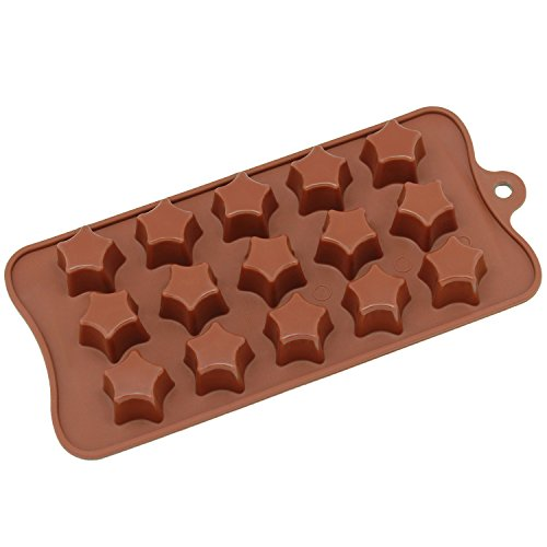 Star Cup Silicone (Freshware CB-613BR 15-Cavity Silicone Super Star Chocolate, Candy and Gummy Mold)