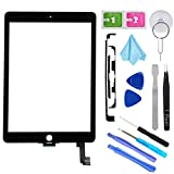 """T Phael Black New Digitizer Repair Kit for iPad Air 2 9.7"""" 2nd Gen A1566 A1567 Touch Screen Digitizer Replacement(Without Home Button,Not Include LCD,ONLY Sell for Pro Repair Shop !!!).: more info"""