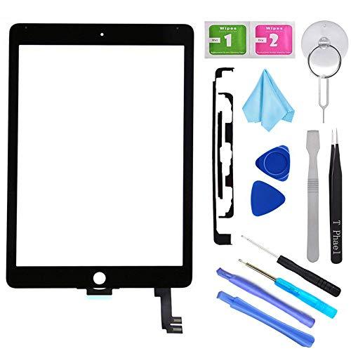 T Phael Black New Digitizer Repair Kit for iPad Air 2 9.7