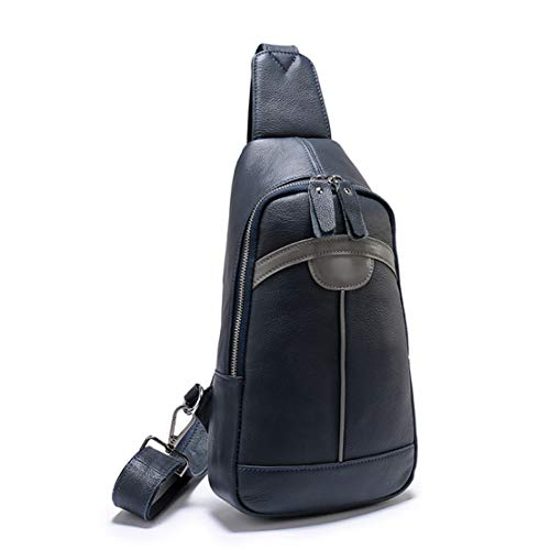 Shoulder Messenger Ligero Viaje Hombre Cuero Multiusos Gran Negro Bags Waterproof Bolso Pecho Cruzado Capacidad Pu Casual Del Bolsa Layxi pd4Yqp