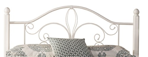 Hillsdale 1862HFQW Wood Post Headboard without Frame, Full/Queen, Textured White (White Wrought Furniture Bedroom Iron)