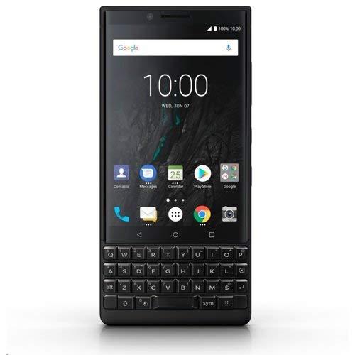 BlackBerry Key2 BBF100-6 64GB/6GB Dual Sim Factory Unlocked GSM ONLY, NO CDMA - International Version (no Warranty in The USA) (Black) ()