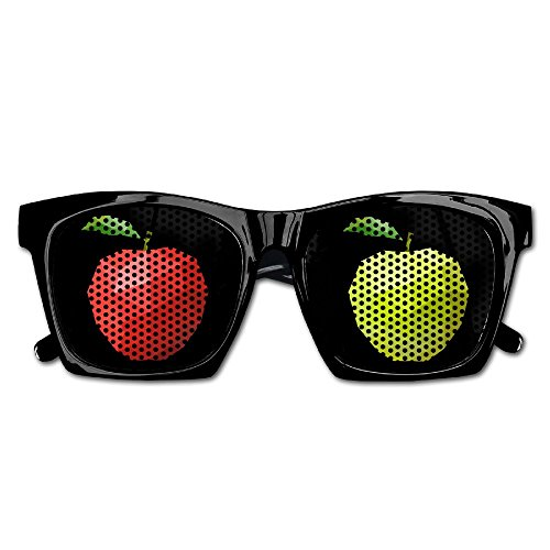 Xing Stars Colorful Summer Unisex Red And Green Apple Fashion Party Costume - For Rent Sunglasses