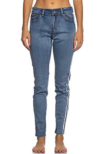 Abbino IG007 Hosen Donne Ragazze - Made in Italy - Multiplo Colori - Pants Mezza Stagione Primavera Estate Autunno Tenerezza Fascino Slim Fit Casual Tempo Libero Lunghi Sexy Alla Moda Eleganti Blu Jeans (Art. W2885)