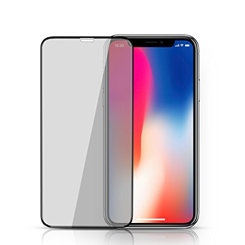 HD Apple Iphone X (10)ScreenProtector,3D Curved Full Cover Protective Film TOP DEALS US Case Friendly Full Coverage Edge to Edge Tempered Glass Bubble Free for Iphone X screen protector - Top Black Cover