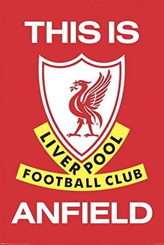 - Liverpool FC This Is Anfield 91 x 61cm Madera DM 1art1 F/útbol P/óster con Marco