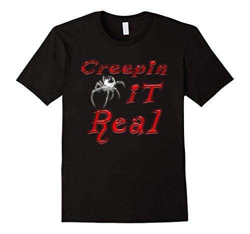 Mens Halloween Costume Idea Spider Tshirt Men Woman Boys Girls 3XL Black