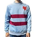 Jonikow Cosplay Undertale Frisk Casual Blue Hoodie Costume Pullover Sweatshirt (XL, Pullover)