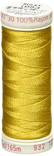 Sulky Rayon Thread for Sewing, 180-Yard, Spark Gold