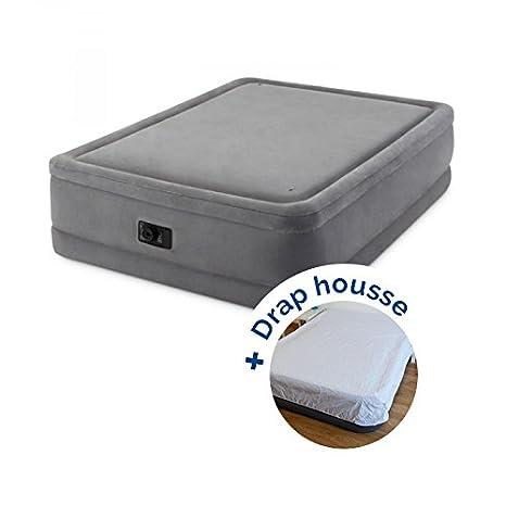 Pack cama hinchable Intex Foam Top Fiber-Tech 203 x 152 x 51 ...