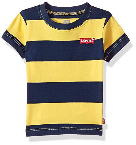 - Levi's Baby Boys Basic T-Shirt, Dress Blues/Habanero Gold, 24M