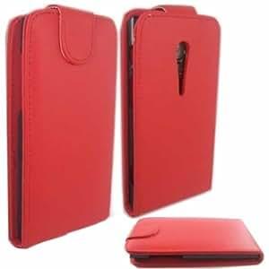 Voltear Concha Caso Cubrir Para Sony Xperia Ion / Red