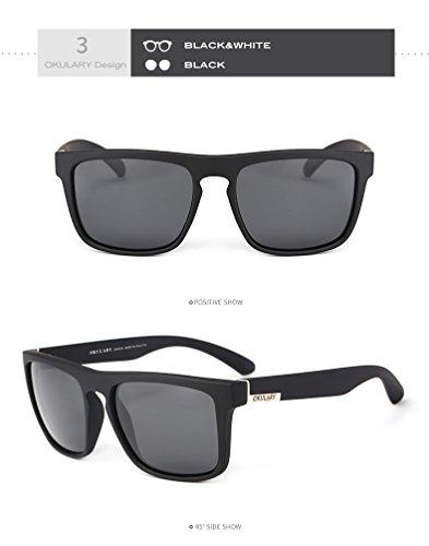 Vintage Adultos de Gafas Gafas Gafas Gran de Sol Sol 6 Cicongzai de para de Sol Moda Mujer UV400 Color para Polaroid conducción Sol Gafas para de Gafas Espejo 3 Hombre xSIqz5