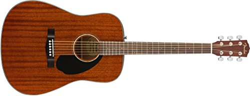 Fender CD -60S All Mahogany Dreadnought Acoustic Guitar - Natural - Dreadnought Mahogany