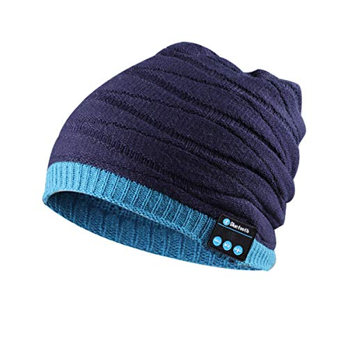 Bluetooth Hat Music Beanie Slouchy with Speaker Microphone Knit Skully