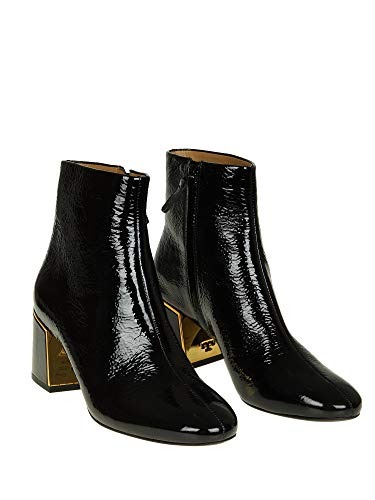 Burch 49711006 Women's Leather Boots Ankle Black Tory 1xqPOTw4U4