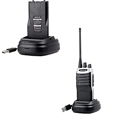 Retevis RT7 Two Way Radio Rechargeable Flashlight Walkie Talkies Adults UHF Hand Free 16CH Emergency Portable 2 Way Radios with Earpiece(Silver Black Border,10 Pack)