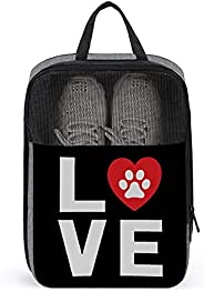 I Love My Dog Travel Golf Shoe Bag Waterproof Carry Tote Bag For Sport Tennis And Other Accessories