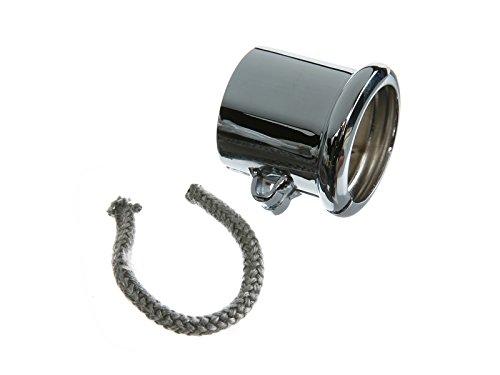 Con morsetto a collare per marmitta, Ø = 40mm, cromato adatto a BK350 Ø = 40mm MZA