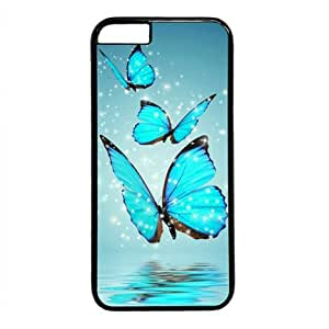 Blue Butterfly Water Reflection-2 Black Sides Hard Shell Case for Iphone6 4.7 inch by Sakuraelieechyan