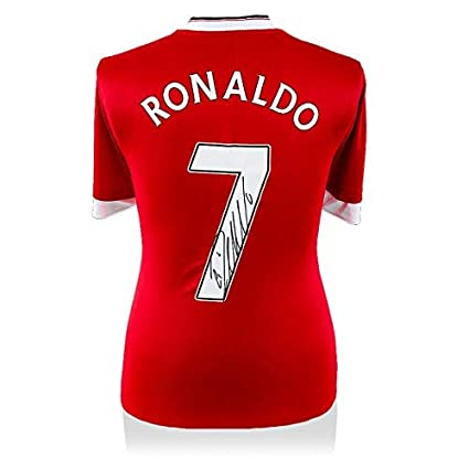 online retailer 89635 a2259 Cristiano Ronaldo Back Signed Manchester United Home Shirt ...