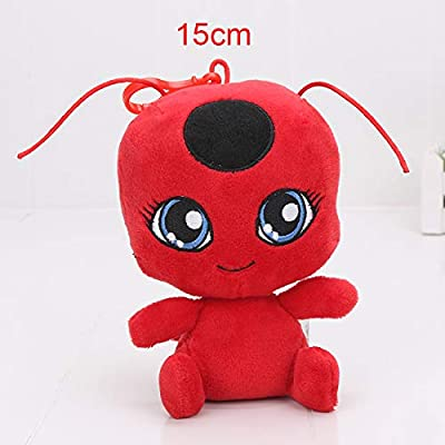 Y-Trust Plush Pendant Keychain Toys Plagg and Tikki Cat Noir Lady Bug Adrien Marinette Soft Stuffed Dolls (A): Home & Kitchen