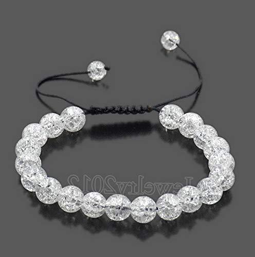 (Florance jones Men Women 8mm Natural Gemstones Macrame Loose Beads Bracelet Adjustable   Model BRCLT - 36218  )