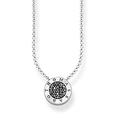 Thomas Sabo Women-Necklace Glam & Soul 925 Sterling Silver mother-of-pearl white Length from 40 to 45 cm KE1492-029-14-L45v OYRHo