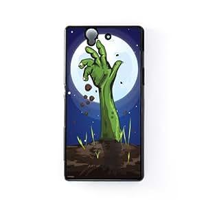 Zombie Hand Carcasa Protectora Snap-On en Plastico Negro para Sony® Xperia Z de Nick Greenaway + Se incluye un protector de pantalla transparente GRATIS