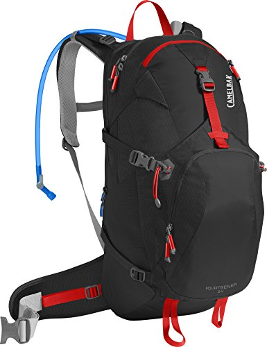 CamelBak Fourteener 24 Crux Reservoir Hydration Pack, Black/Fiery Red, 3 L/100 oz