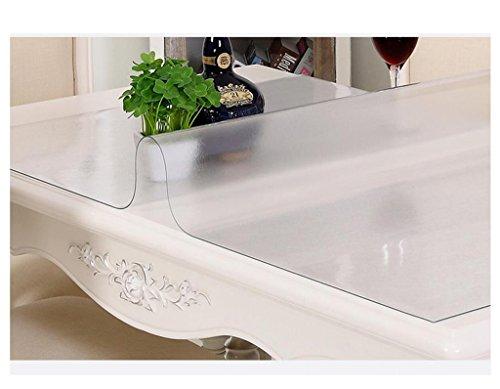 Thickness 1.0mm 80135cm Nappe de cuisine Tissu de table en PVC Transparent en verre doux, imperméable et étanche à l'huile (Couleur   Thickness 1.0mm, taille   80  135cm)
